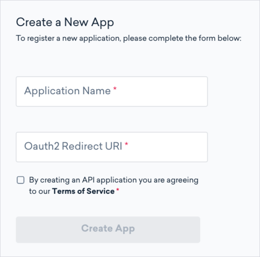an image of the api form in classy manager