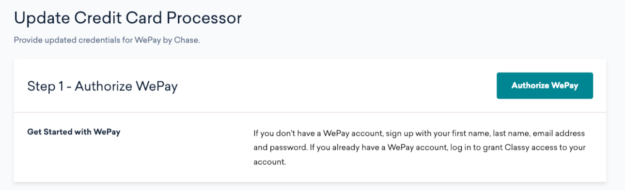 How to Set Up WePay